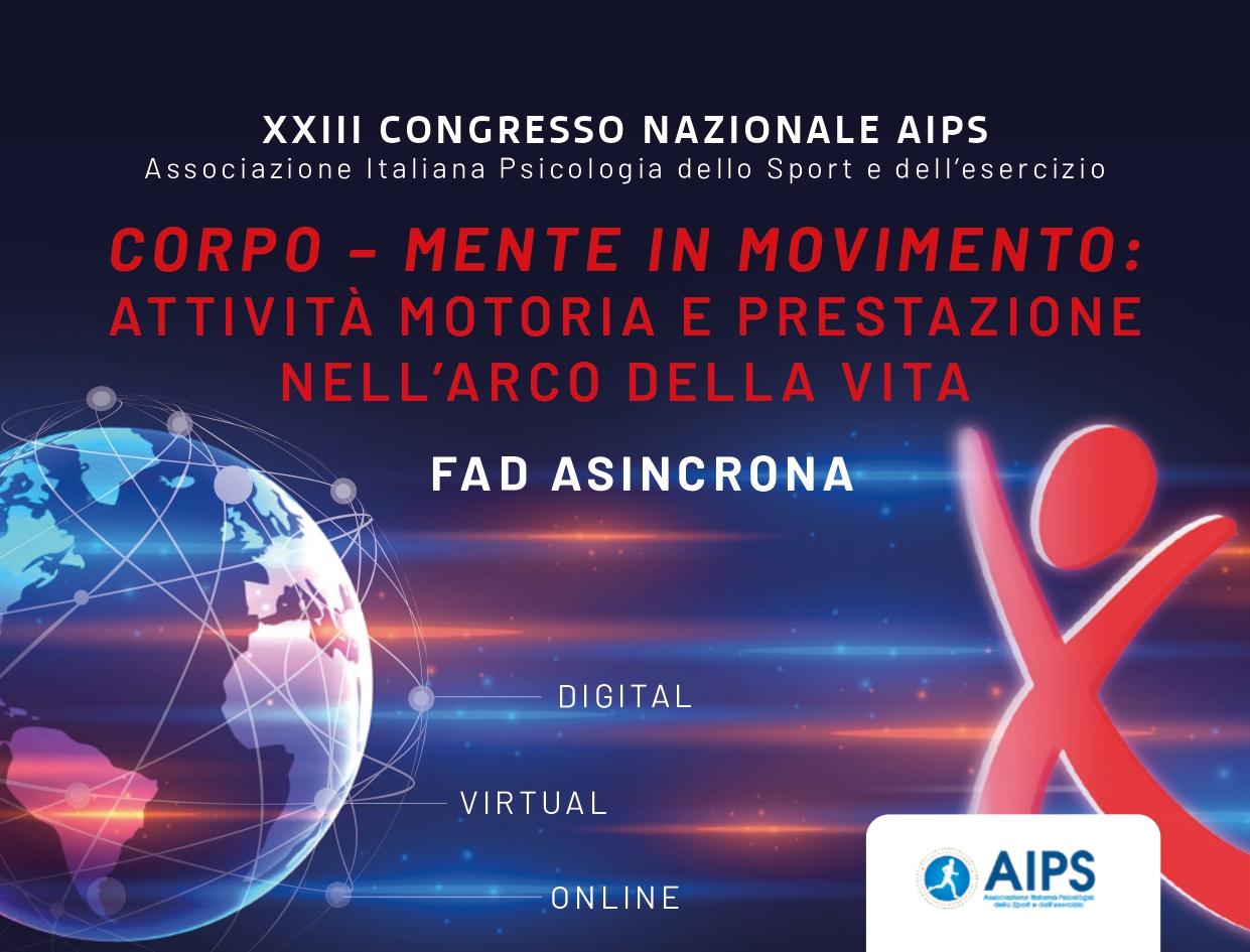 Course Image XXIII CONGRESSO NAZIONALE AIPS - Corpo-mente in movimento: attività motoria e prestazione nell'arco della vita